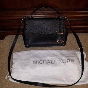 Michael Kors Crossbody Satchel purse MK Black